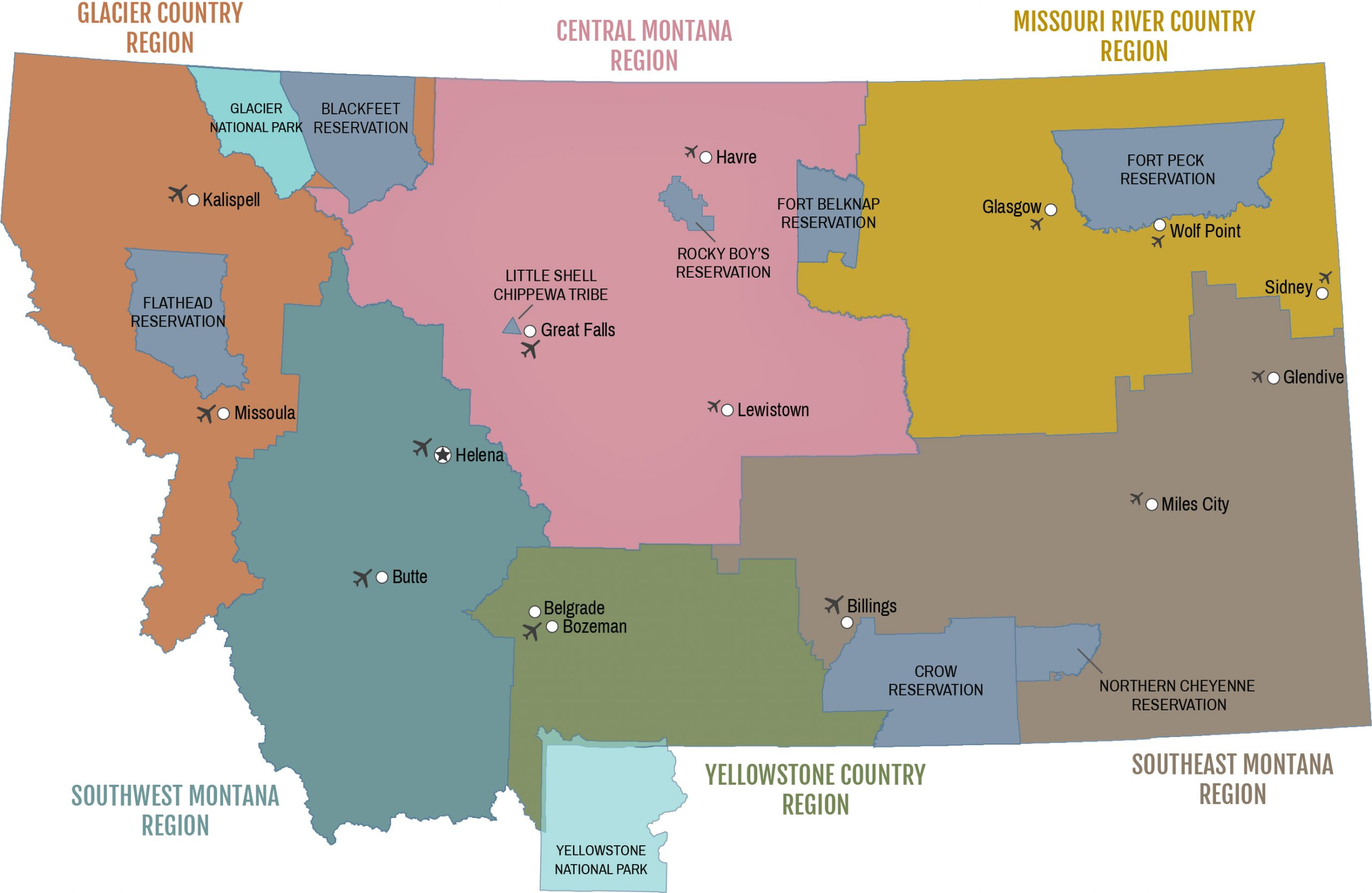 Airport Regions
