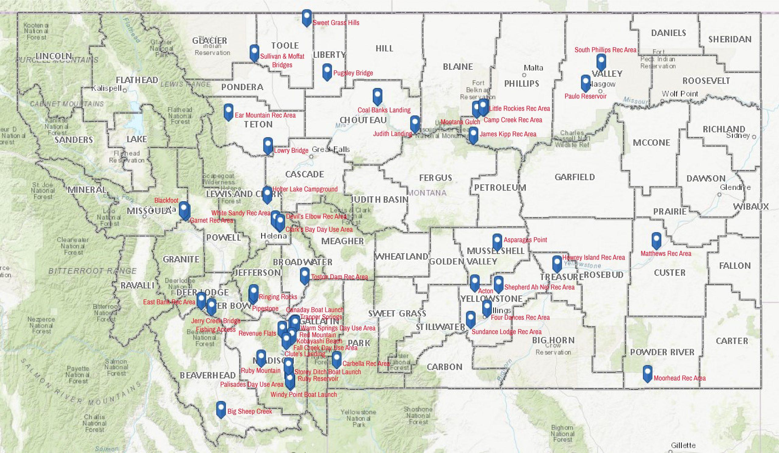 BLM Rec Areas