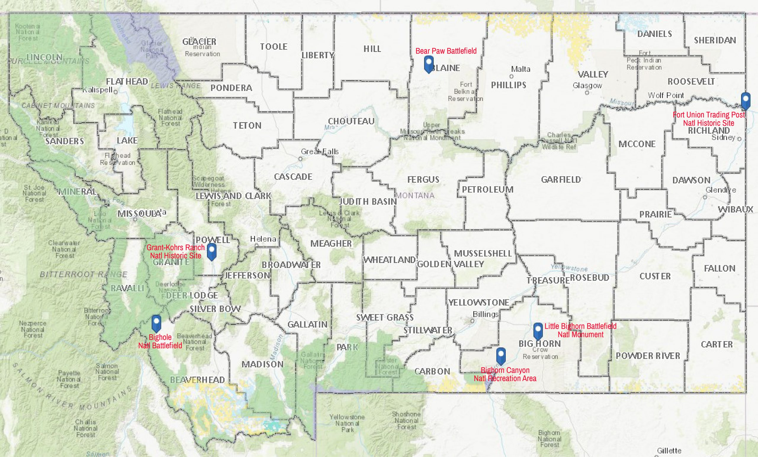 Natl Park Battlefields and Monuments
